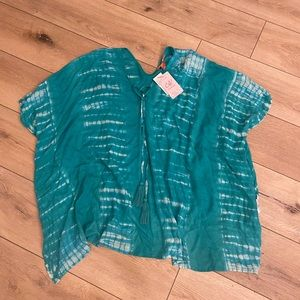 Tie dye swimsuit cover up NWT